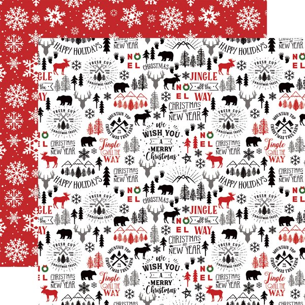 A Lumberjack Christmas Double-Sided Cardstock 12X12-Mountain Christmas