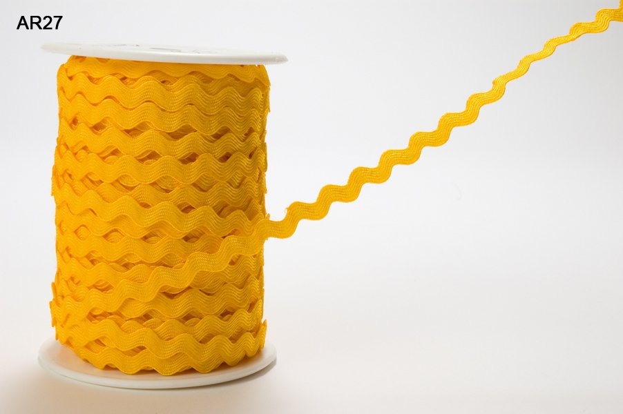 May Arts- 1/4 Inch Ric Rac Trim Ribbon with Woven Edge CLICK PICTURE TO SEE COLORS