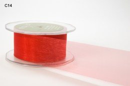 May Arts- 1 Inch Soft Shimmer Sheer Ribbon with Cut Edge CLICK PICTURE TO SEE COLORS