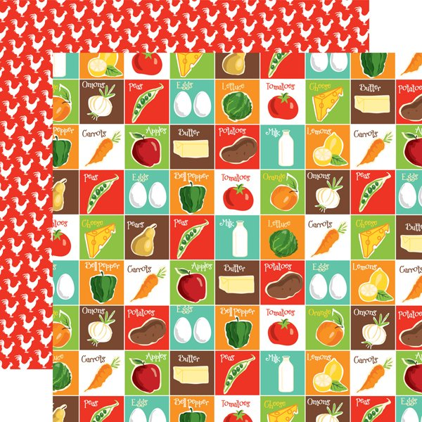 Farm To Table Double-Sided Cardstock 12X12- Pantry Party