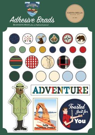 Carta Bella Decorative Brads -Outdoor Adventures