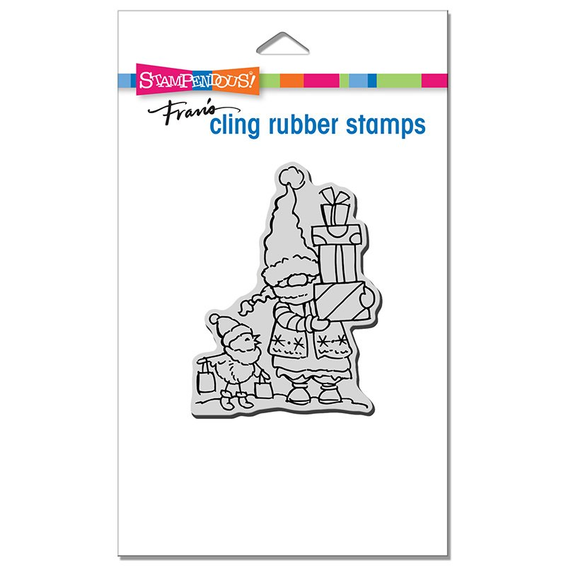 Gnome Shoppers Rubber Stamp