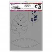 Dina Wakley Media Mask + Stencil: Tropical