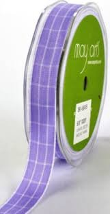 May Arts 5/8 Solid Plaid CLICK PICTURE TO SEE COLORS