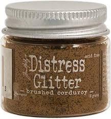 Distress Glitter- brushed corduroy