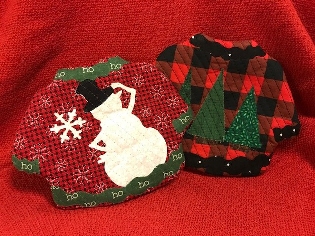 Christmas Quilted Scented Mug Rug SNOWMAN