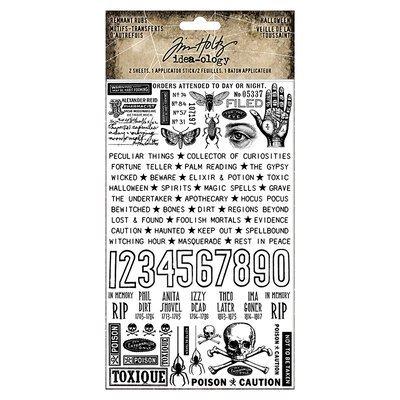 Idea-Ology Remnant Rubs Rub-Ons 4.75X7.75 2/Pkg-Halloween