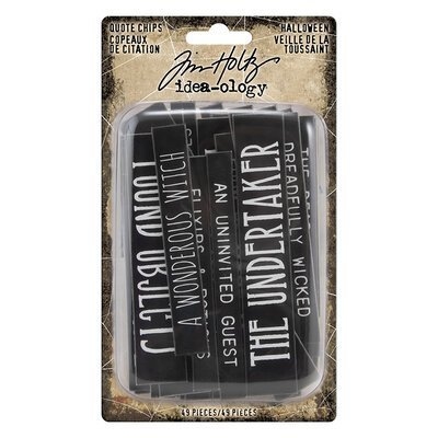 Idea-Ology Chipboard Quote Chips 49/Pkg