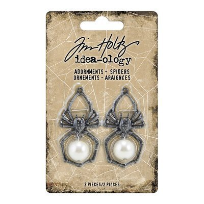 Idea-Ology Metal Adornments 2/Pkg spiders