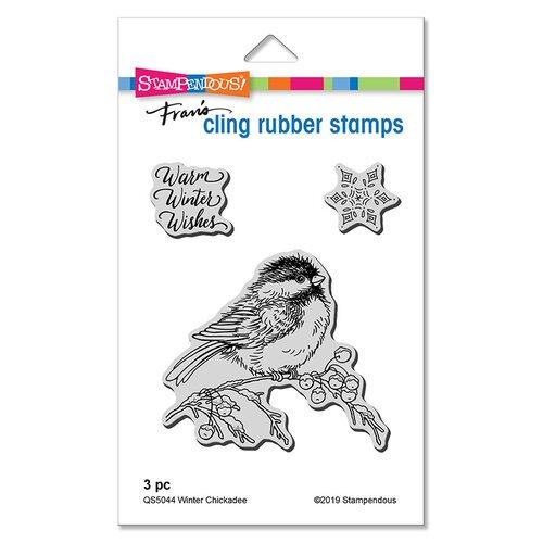 Winter Chickadee Cling Stamp