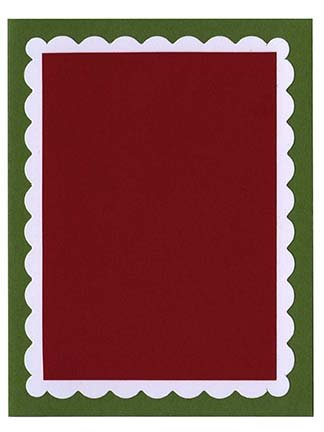 Scallop A-2 Double Layered Card Kit (A) - 5 ct Gumdrop Green/White/Wild Cherry