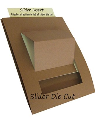 Slider Die Cut with Inserts 10ct - MANILA FILE BROWN