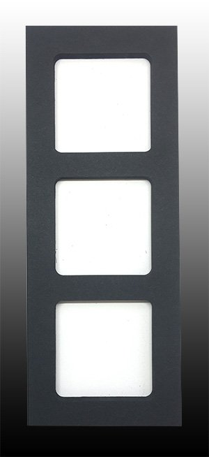 SLIMLINE Black Triple Square Window Overlay 10ct - copy