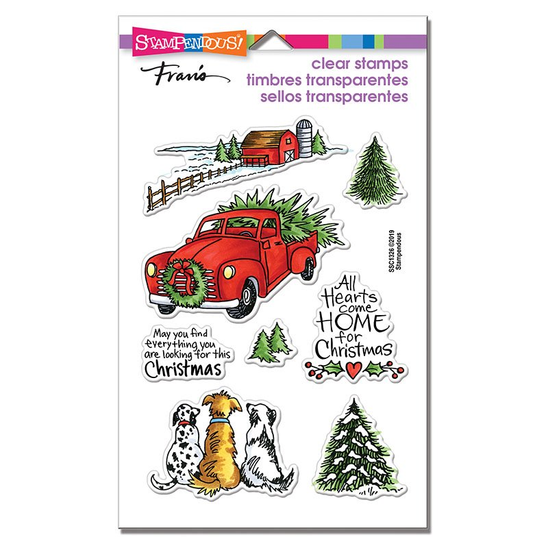Christmas Farm Perfectly Clear Stamps