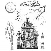Tim Holtz Cling Mount Stamps: Sketch Manor