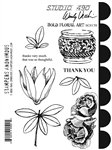 Studio 490 Wendy Vecchi Cling Mount Stamps: Bold Floral Art
