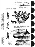 PREORDER Studio 490 Wendy Vecchi Cling Mount Stamps: Rick's Art