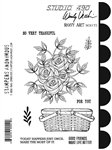 Studio 490 Wendy Vecchi Cling Mount Stamps: Rosy Art