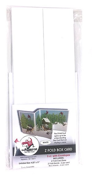 Z Fold Box Card Kit - White