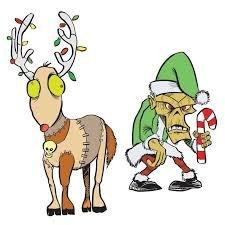 Art Gone Wild Zombie Elf & Reindeer
