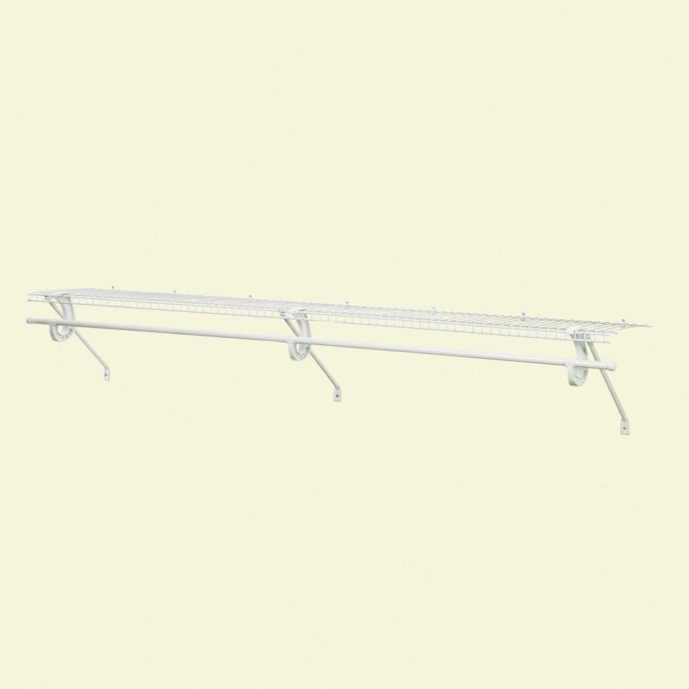 SuperSlide 12 in. D x 72 in. W x 12 in. H Ventilated Wire Shelf Kit with Steel Closet System Rod