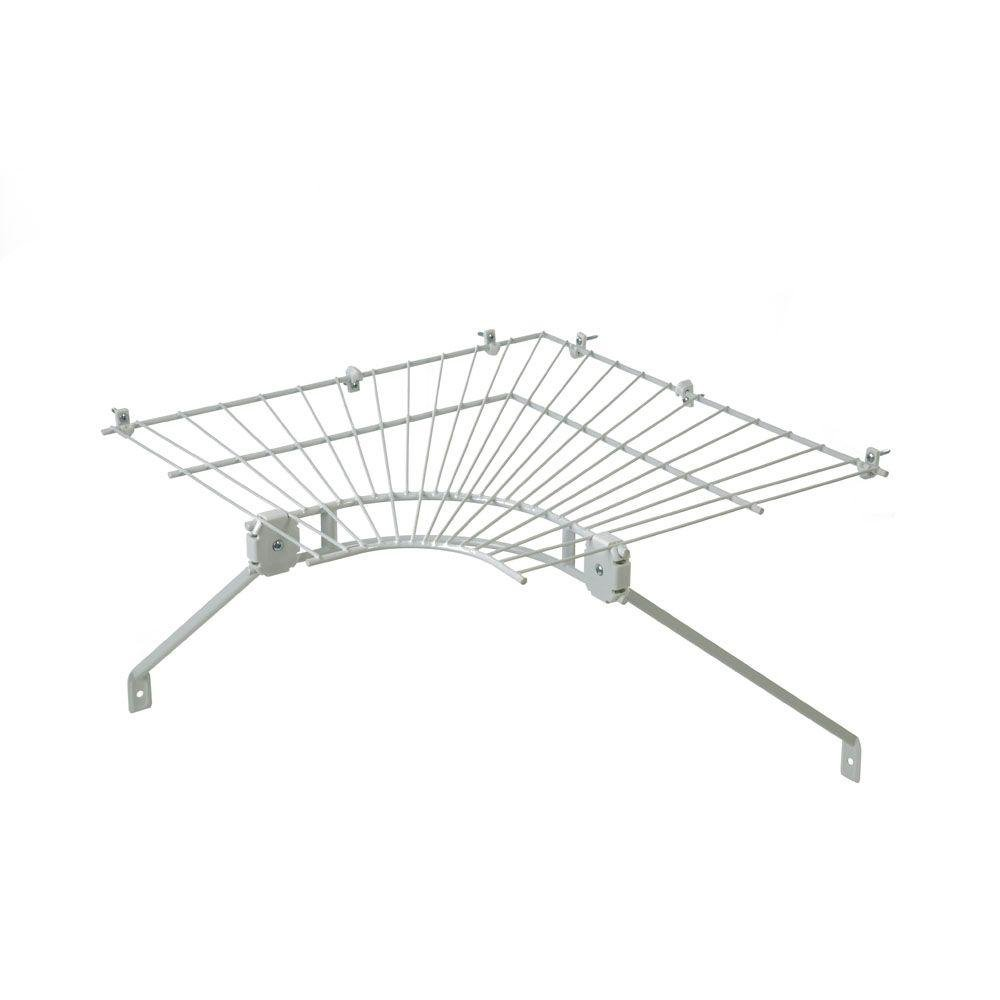 ClosetMaid Ventilated Wire Corner Shelf for 16 in. Shelf and Rod Shelving
