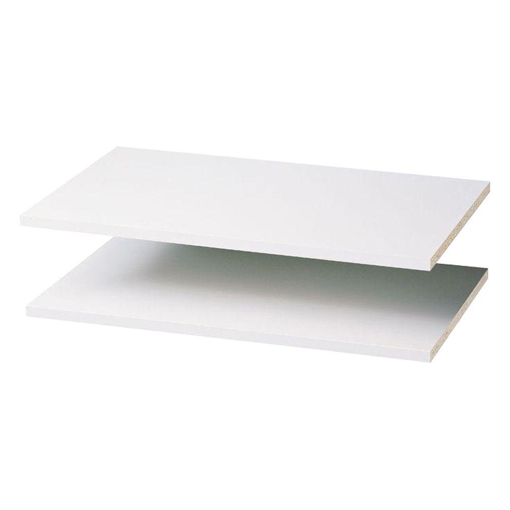 24 in. Classic White Shelf (2-Pack)