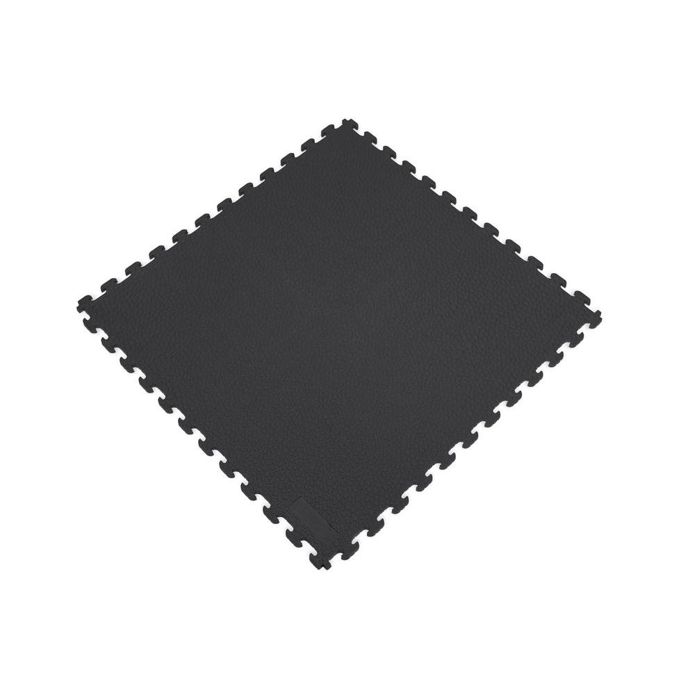 Norsk Rhino-Tec 18.3 in. x 18.3 in. Black PVC Sport and Gym Flooring Tile (6-Pieces)