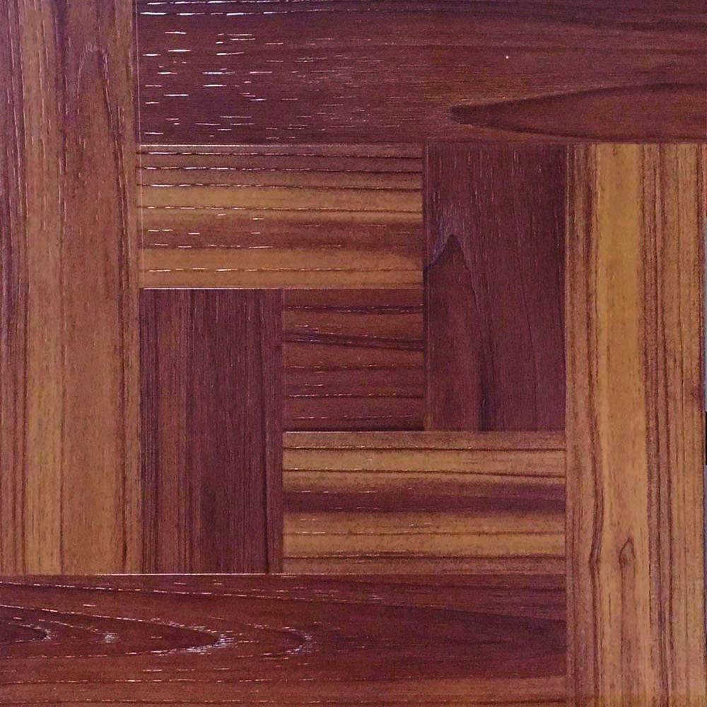 TrafficMASTER Red Oak Parquet 12 in. x 12 in. Peel and Stick Vinyl Tile Flooring (30 sq. ft. / case)