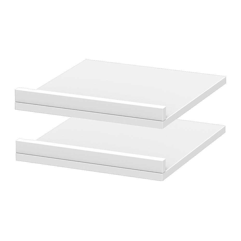 15 in. x 3 in. Rollout Shelves Drawer with Fence in Polar White (2-Pack)