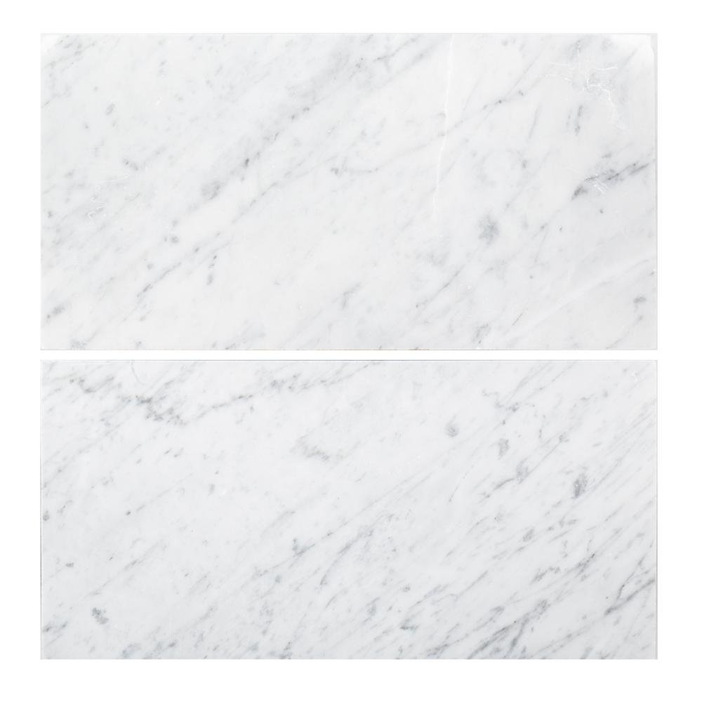 Carrara 6 in. x 12 in. Honed Marble Floor and Wall Tile (1 sq. ft. / pack)