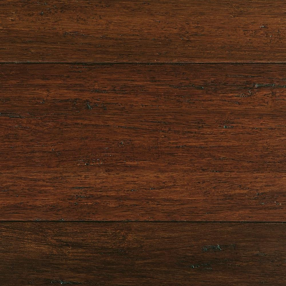 Home Decorators Collection Hand Scraped Strand Woven Sahara 3/8 in. T x 5-1/5 in. W x 36.02 in. L Engineered Click Bamboo Flooring