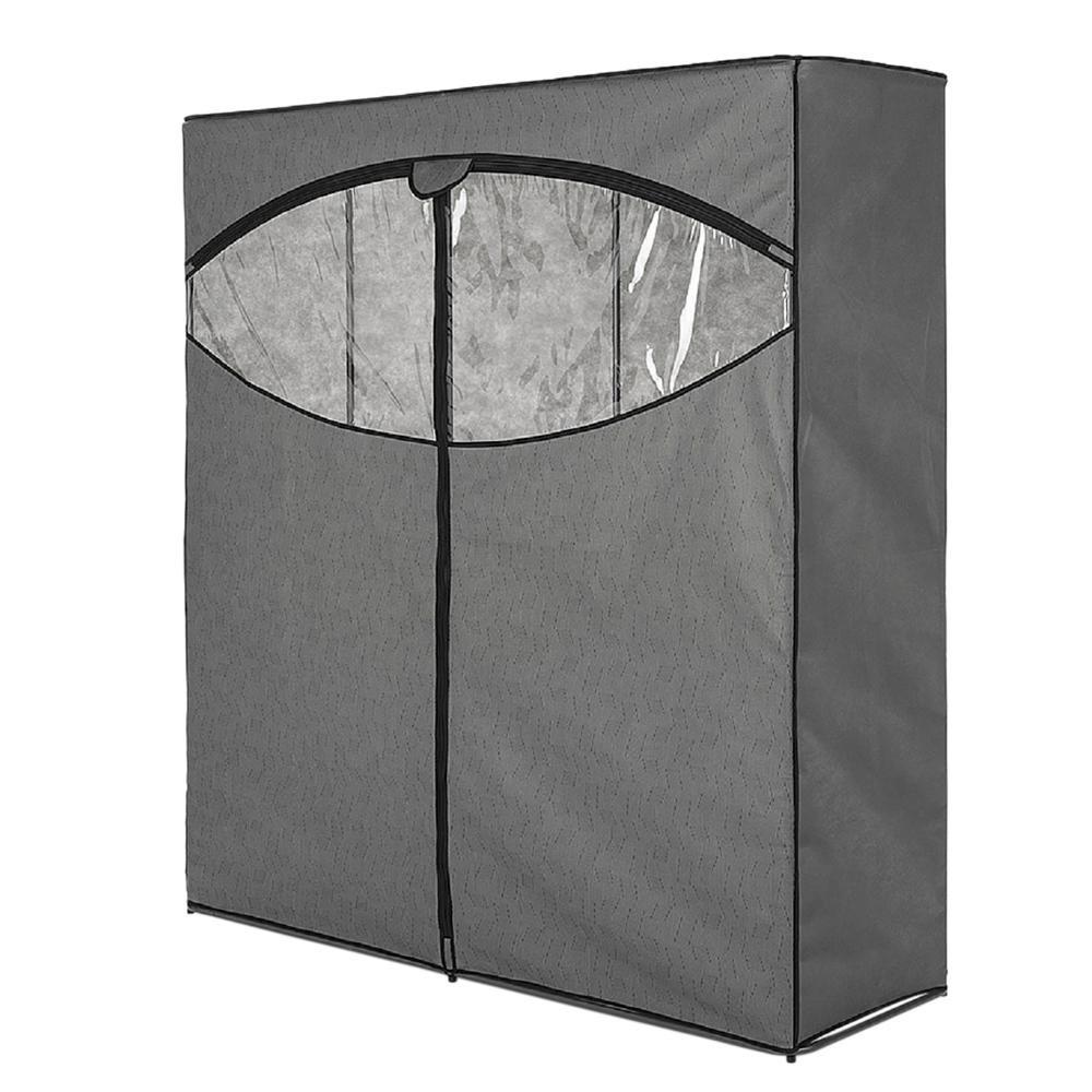 20 in. D x 60 in. W x 63.63 in. H Gray Steel Freestanding Closet