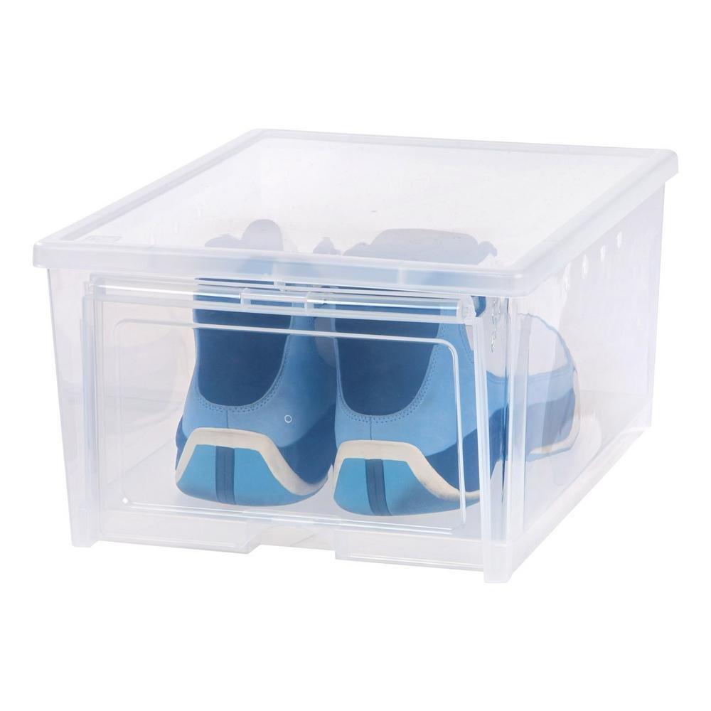 4-Pair Easy Access Men's Shoe Organizer Box (4-Pack)