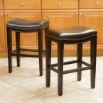 Avondale 26 in. Brown Backless Counter Stool (Set of 2)