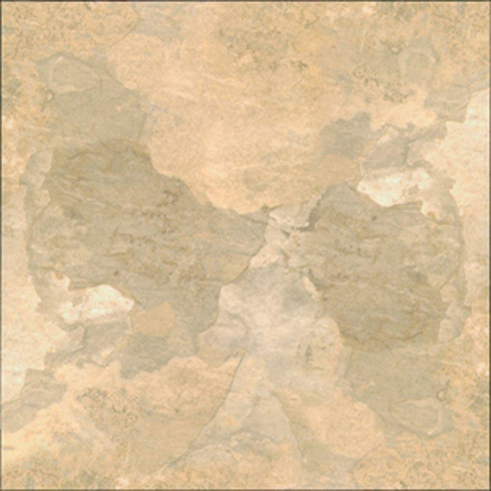 TrafficMASTER Beige Slate 12 in. Width x 12 in. Length x 0.080 in. Thick Peel and Stick Vinyl Tile (30 sq. ft. / carton)