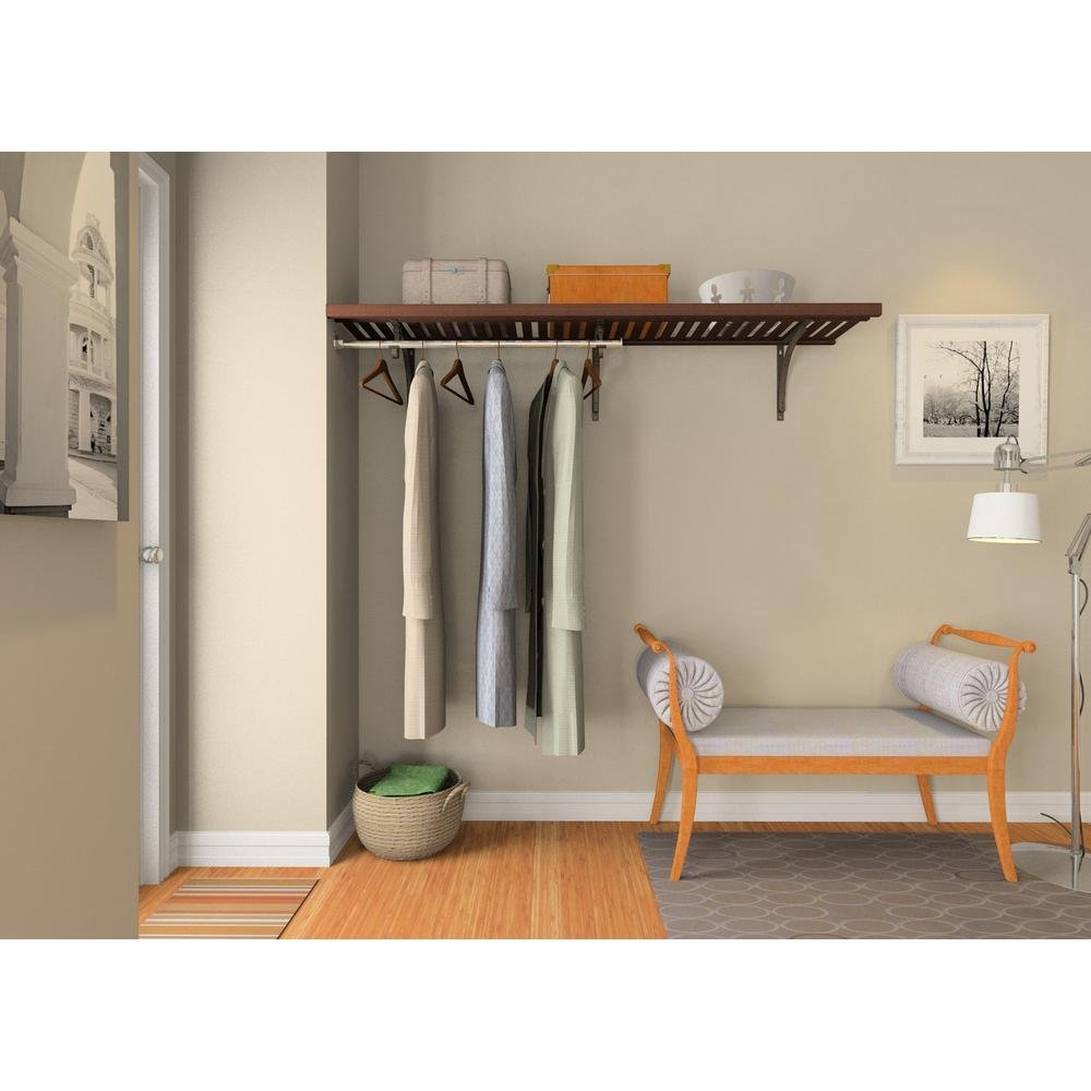 ClosetMaid 16 in. D x 72 in.W x 84 in. H Espresso Ventilated Wood Wall Mount Entry Closet Kit