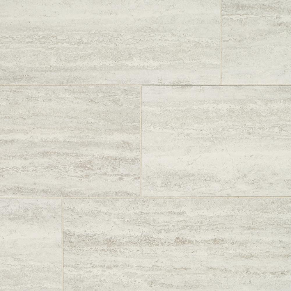 Marazzi Stonehollow Mist 12 in. x 24 in. Glazed Porcelain Floor and Wall Tile (15.6 sq. ft. / case)