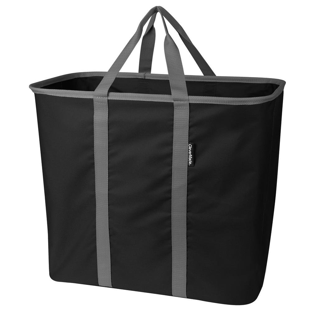 13.25 x 18.5 Charcoal/Black Collapsible Laundry Bin