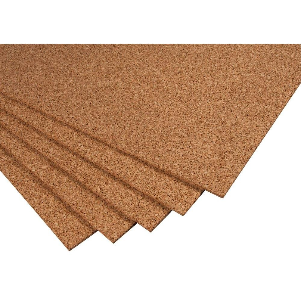 2 ft. x 3 ft. x 1/4 in. Cork Underlayment Sheet (30 sq. ft. / 5-Pack)