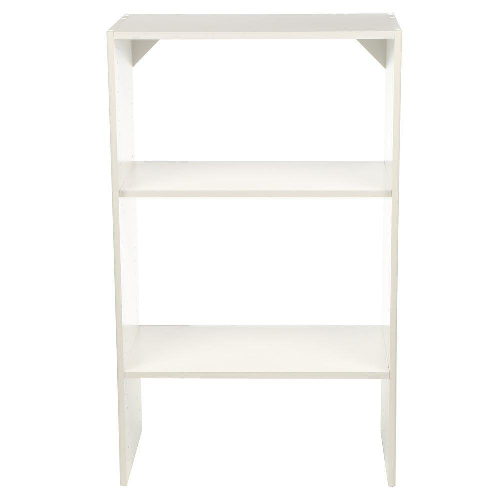 ClosetMaid Selectives 14.5 in. x 41.5 in. x 25 in. 3-Shelf White Stackable Organizer