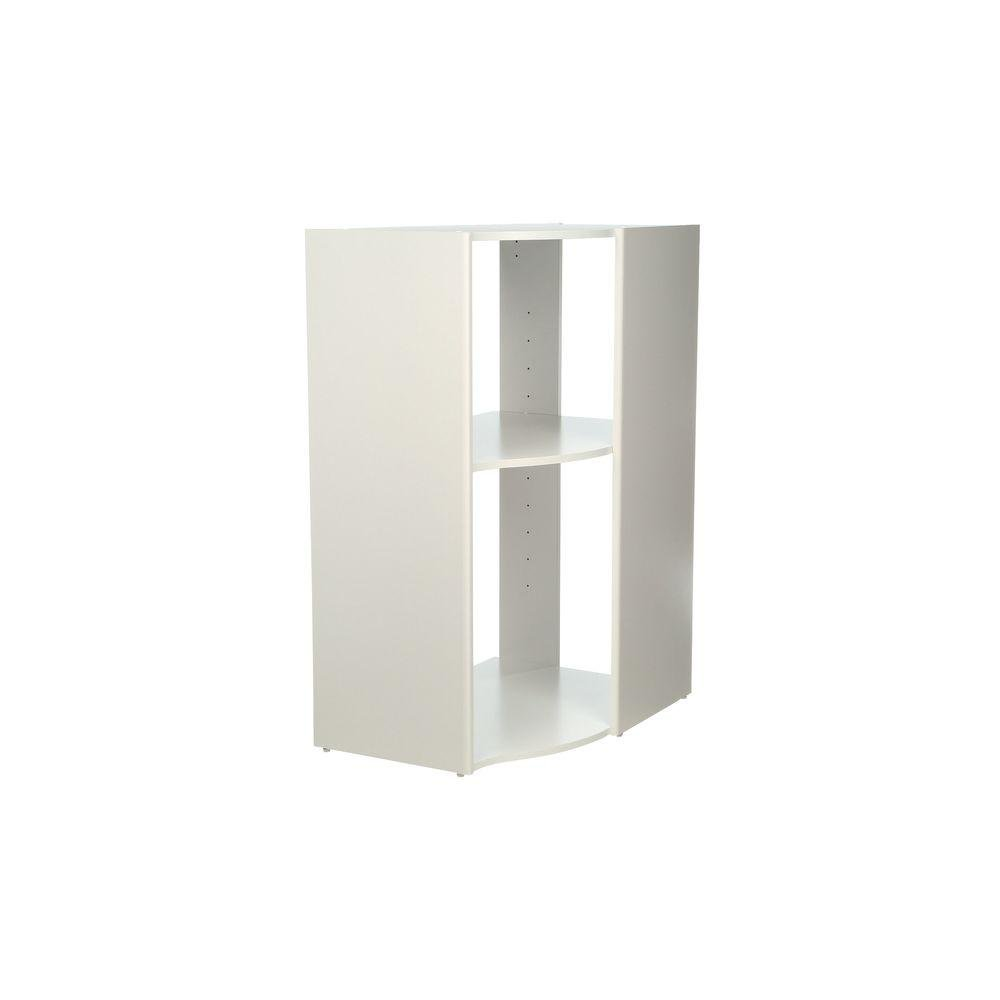 ClosetMaid Selectives 20 in. x 41.5 in. x 29 in. 3-Shelf White Stackable Corner Organize