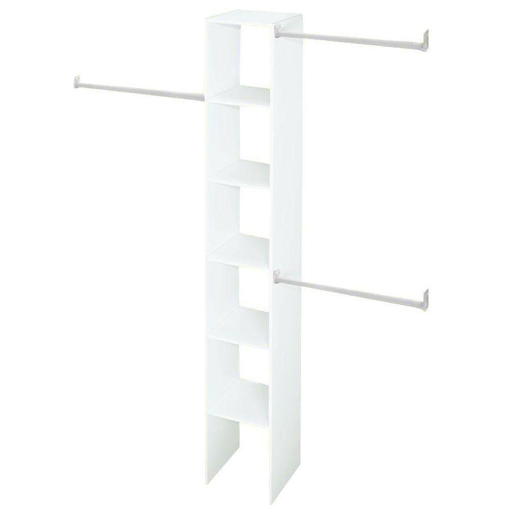 11.5 in. D x 12 in. W x 83 in. H White Custom Laminate Closet System Organizer