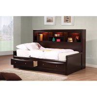 Coaster Phoenix Twin Daybed with Bookcase Cappuccino