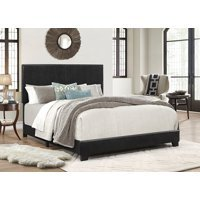 Crown Mark Erin Faux Leather Bed Black