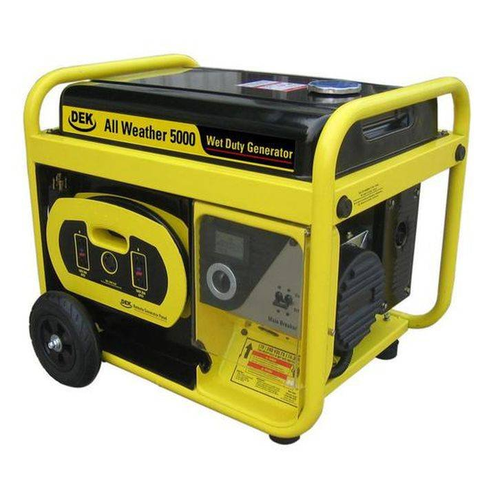5000-Watt, 6600 Surge Watt All-Weather Gas Powered Portable Generator