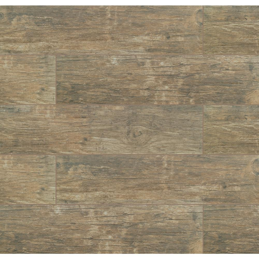 MSI Redwood Natural 6 in. x 24 in. Glazed Porcelain Floor and Wall Tile (10 sq. ft./case) shareShare save to favoritesSave to Favorites printPrint MSI Redwood Natural 6 in. x 24 in. Glazed Porcelain Floor and Wall Tile (10 sq. ft./case