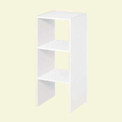 12 in. White Stackable Storage Organizer
