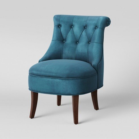 tuffted chair teal