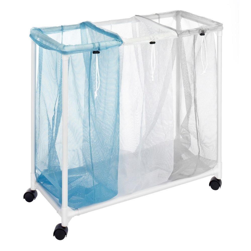 Whitmor Nylon Mesh 3-Section Laundry Sorter